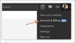 Account & Billingページ