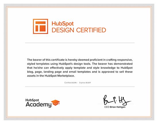 HubSpot Design Certification合格体験記